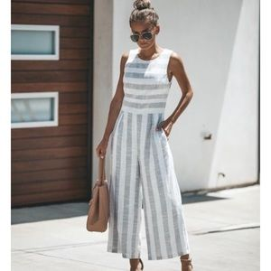 Vici Collection Striped Jumpsuit